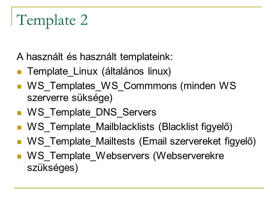 Template 2 A használt és használt templateink: