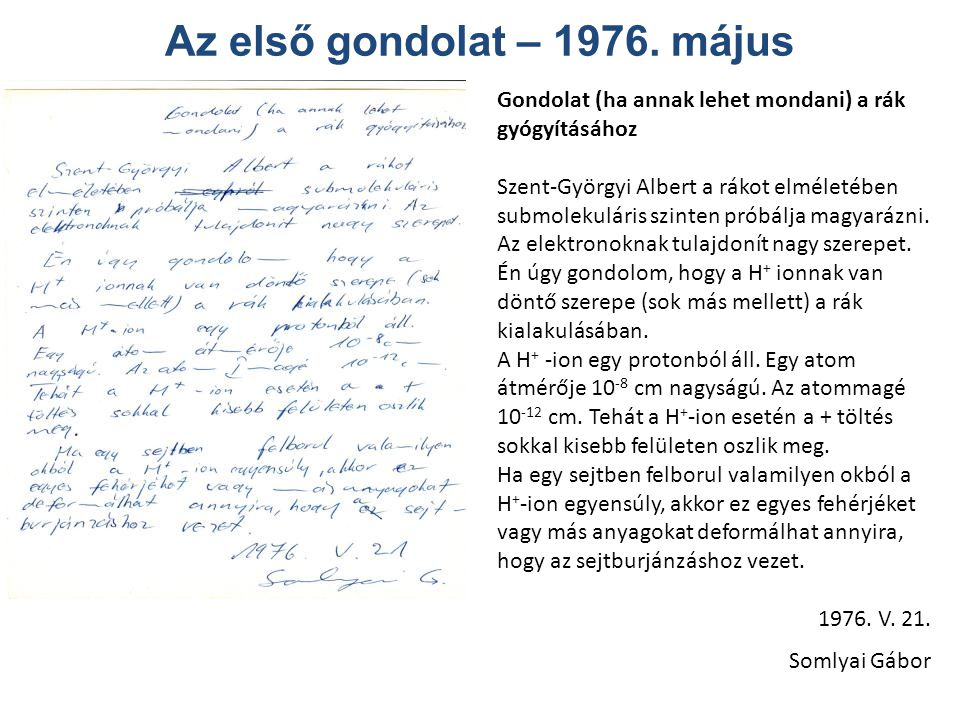 Az első gondolat – 1976. május