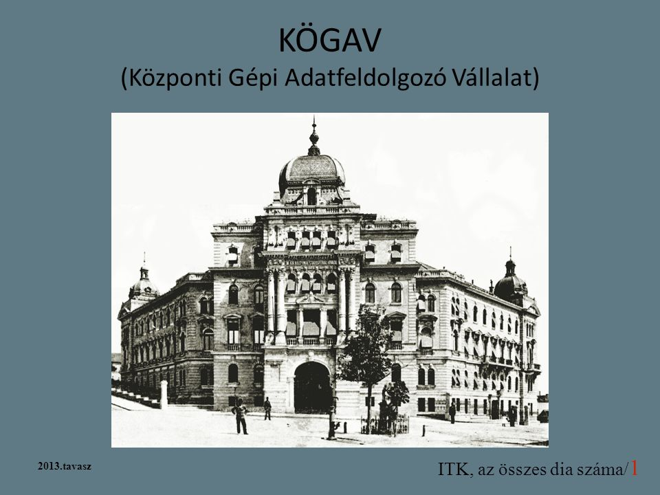 KÖGAV (Központi Gépi Adatfeldolgozó Vállalat)