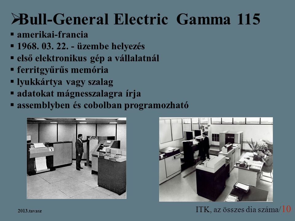 Bull-General Electric Gamma 115
