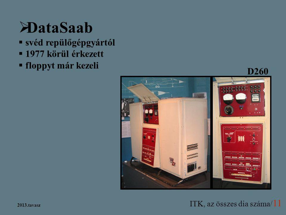 DataSaab svéd repülőgépgyártól 1977 körül érkezett floppyt már kezeli