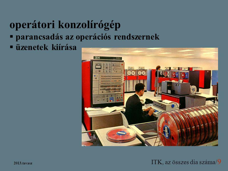 operátori konzolírógép
