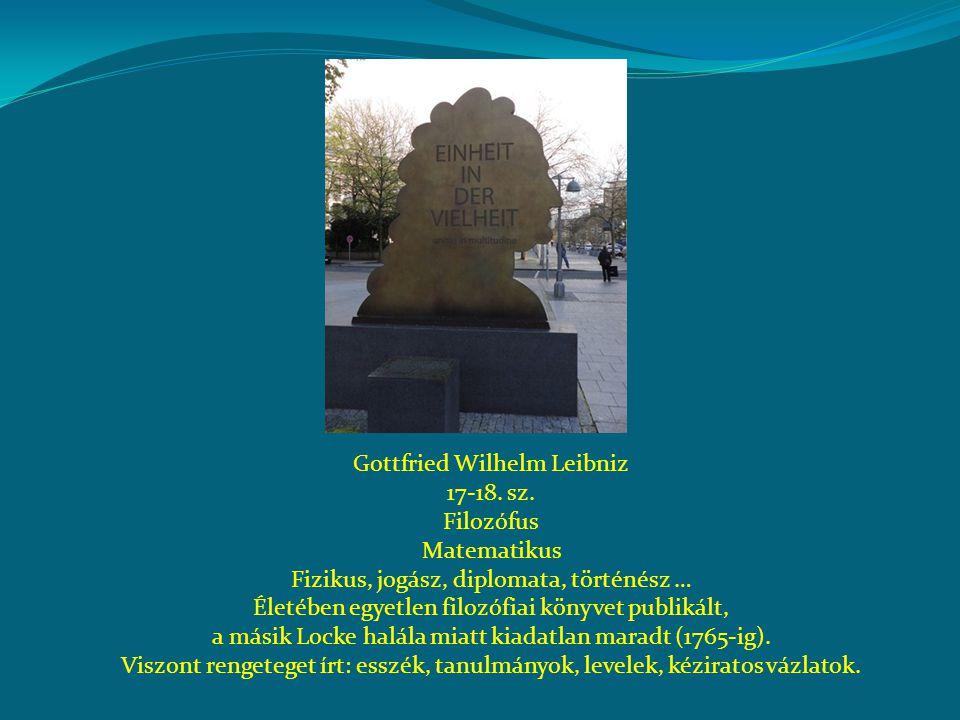 Gottfried Wilhelm Leibniz 17-18. sz. Filozófus Matematikus