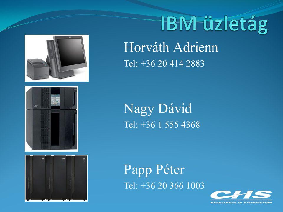 IBM üzletág Horváth Adrienn Nagy Dávid Papp Péter Tel: +36 20 414 2883