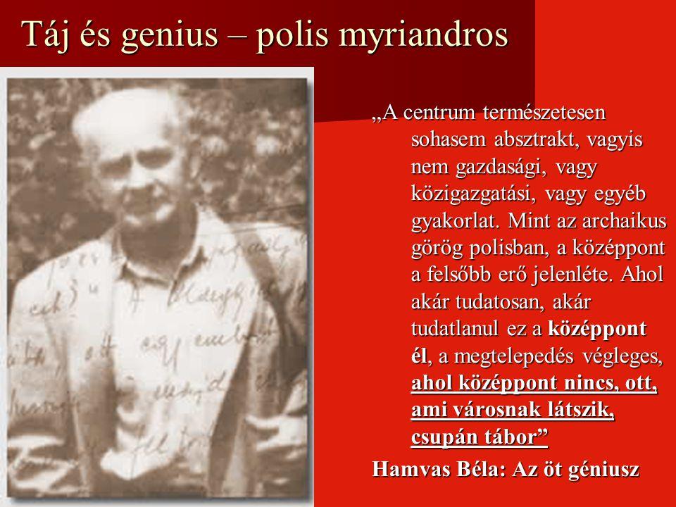 Táj és genius – polis myriandros