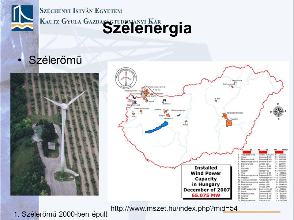 Szélenergia Szélerőmű http://www.mszet.hu/index.php mid=54