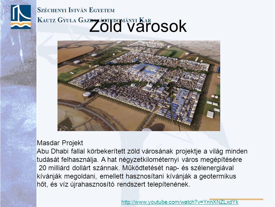 Zöld városok Masdar Projekt