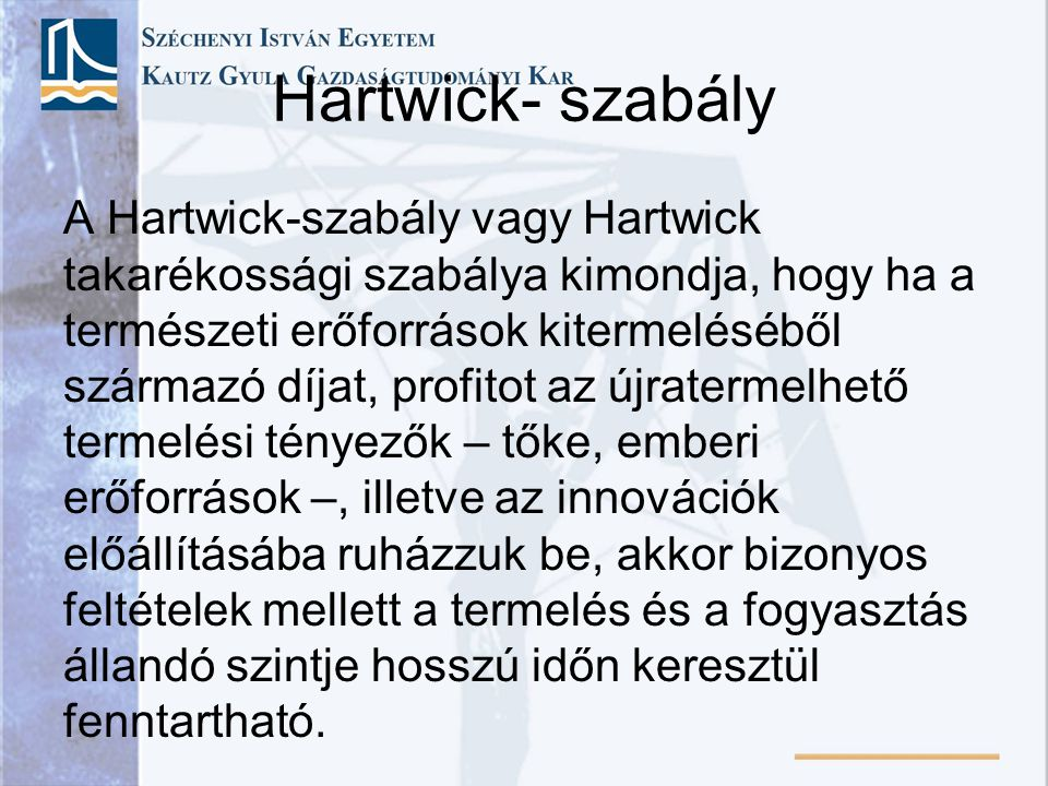 Hartwick- szabály
