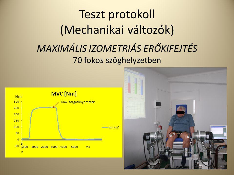 Teszt protokoll (Mechanikai változók)