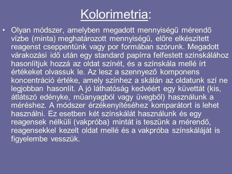 Kolorimetria: