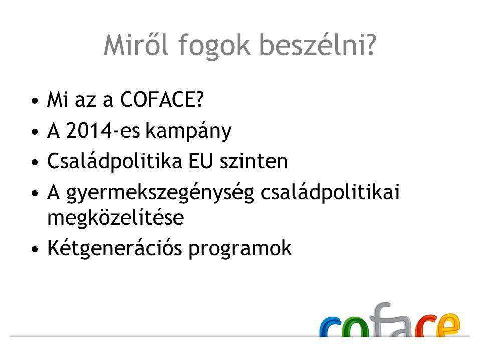 Miről fogok beszélni Mi az a COFACE A 2014-es kampány