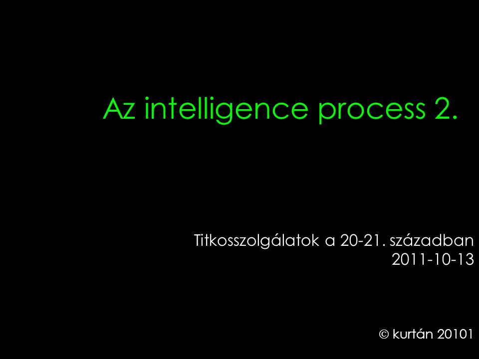 Az intelligence process 2.