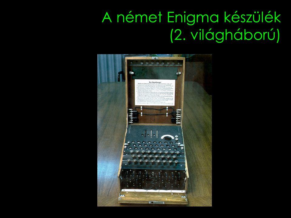 A német Enigma készülék (2. világháború)