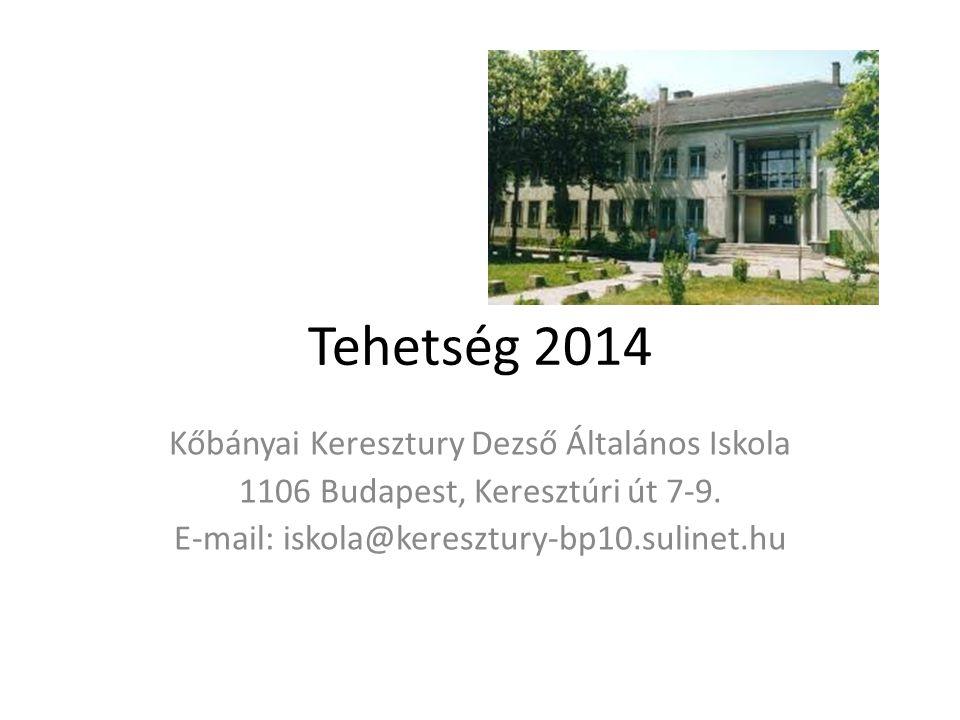Tehetség 2014 Kőbányai Keresztury Dezső Általános Iskola