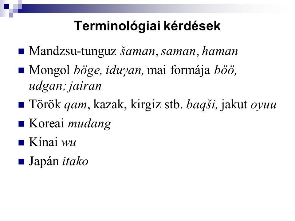 Terminológiai kérdések