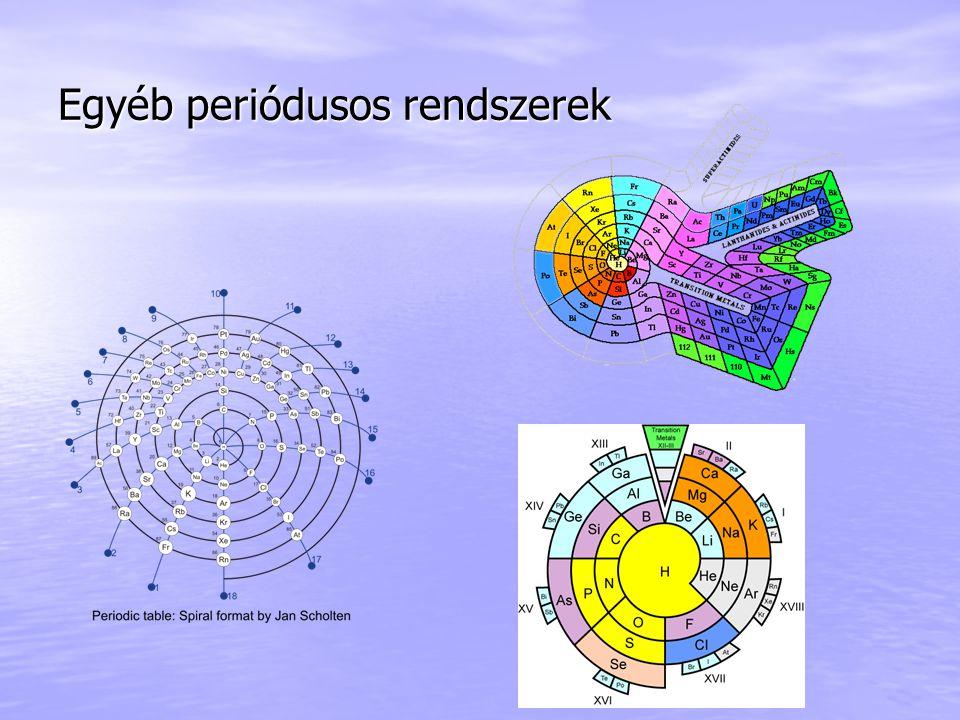 Egyéb periódusos rendszerek