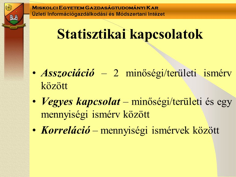 Statisztikai kapcsolatok