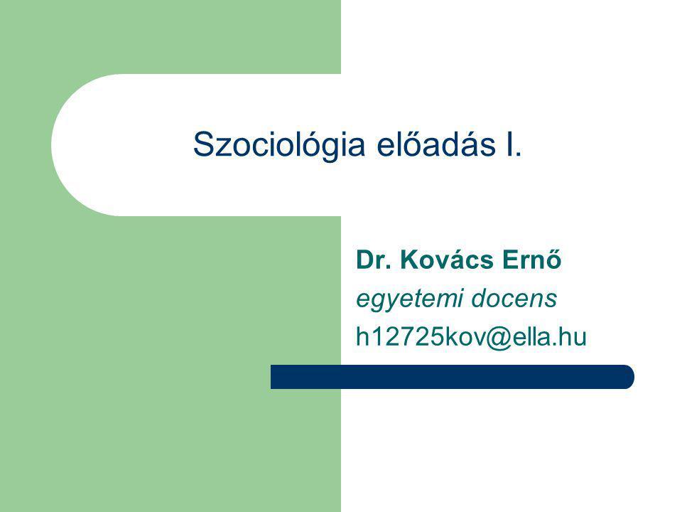 Dr. Kovács Ernő egyetemi docens h12725kov@ella.hu