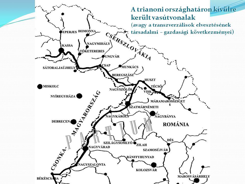A trianoni országhatáron kívülre került vasútvonalak