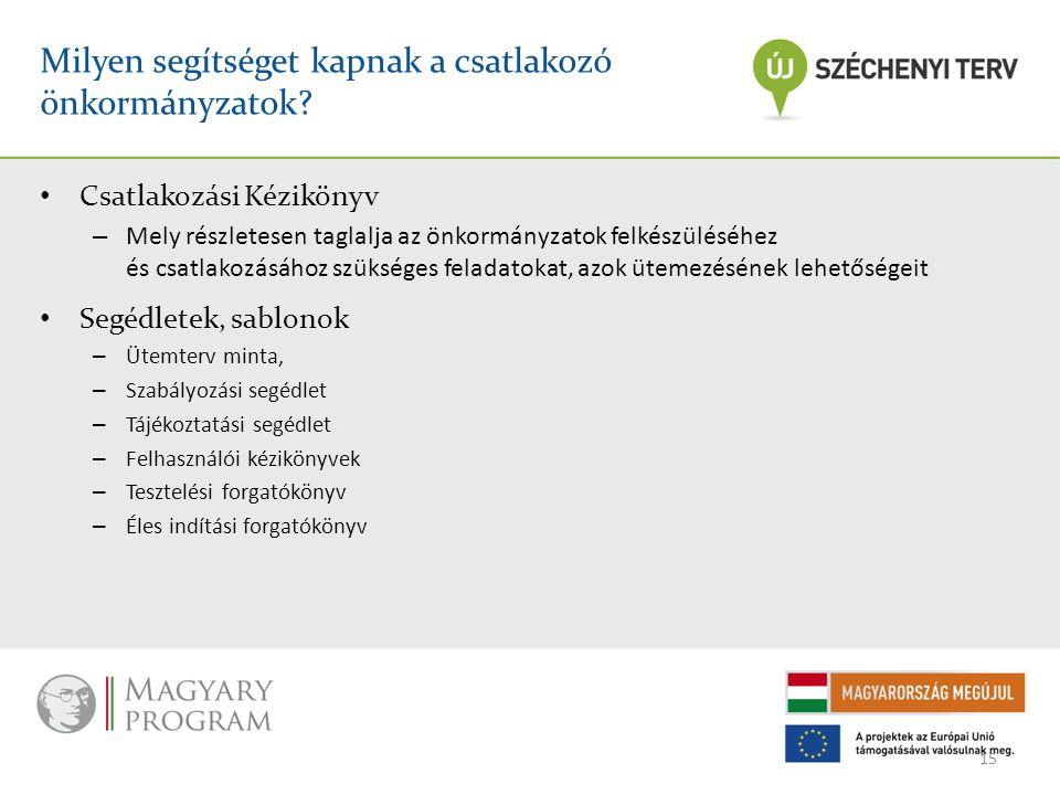 Milyen segítséget kapnak a csatlakozó önkormányzatok