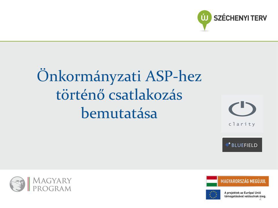 Önkormányzati ASP-hez történő csatlakozás bemutatása