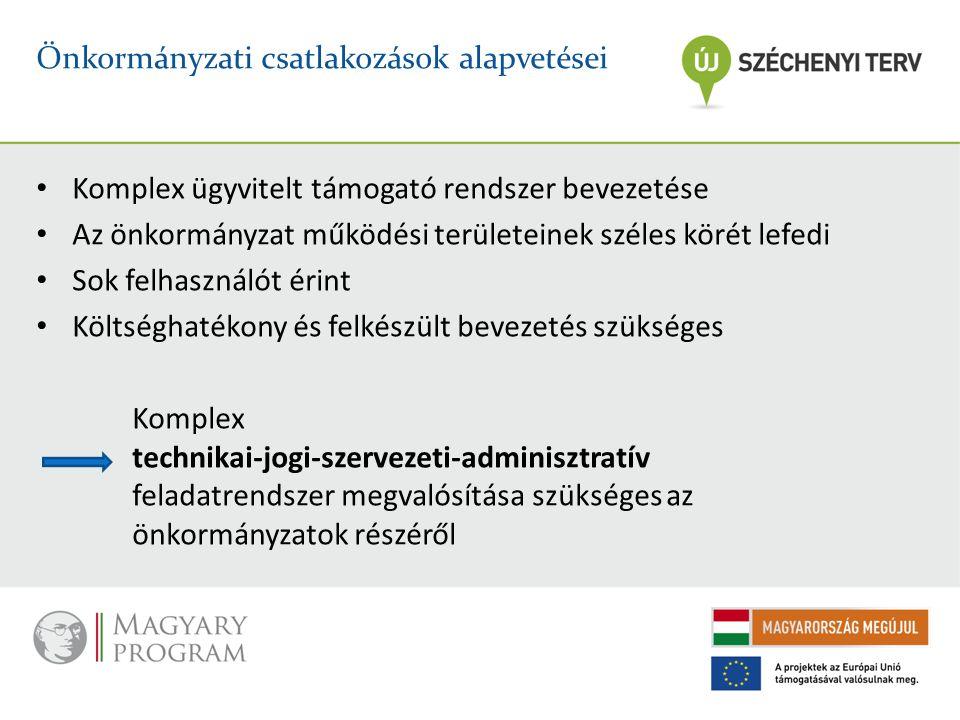 Önkormányzati csatlakozások alapvetései
