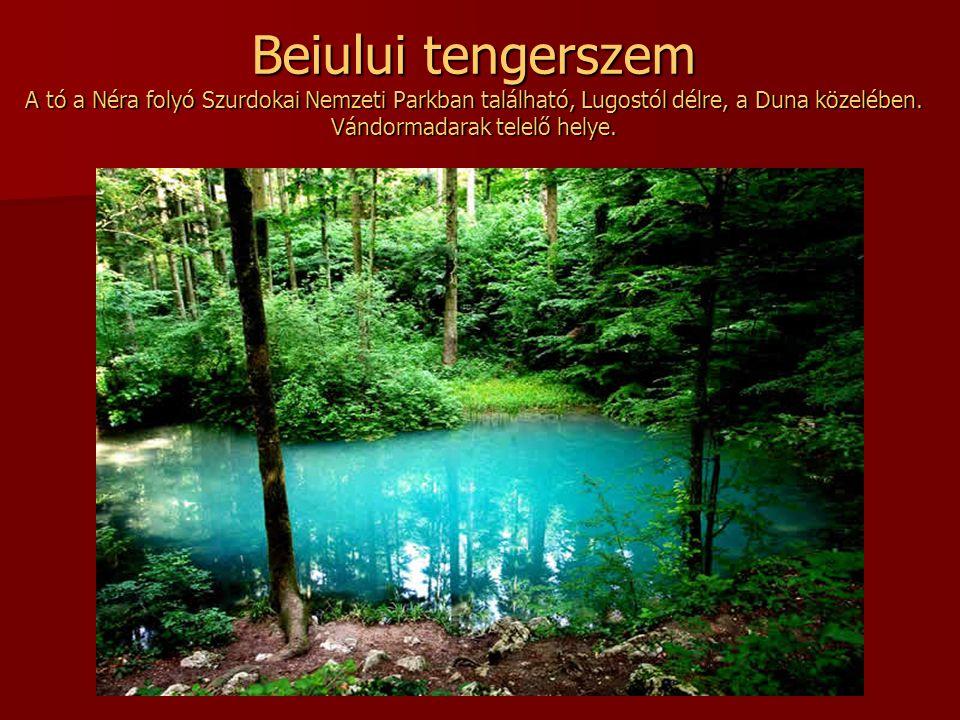 Beiului tengerszem A tó a Néra folyó Szurdokai Nemzeti Parkban található, Lugostól délre, a Duna közelében.