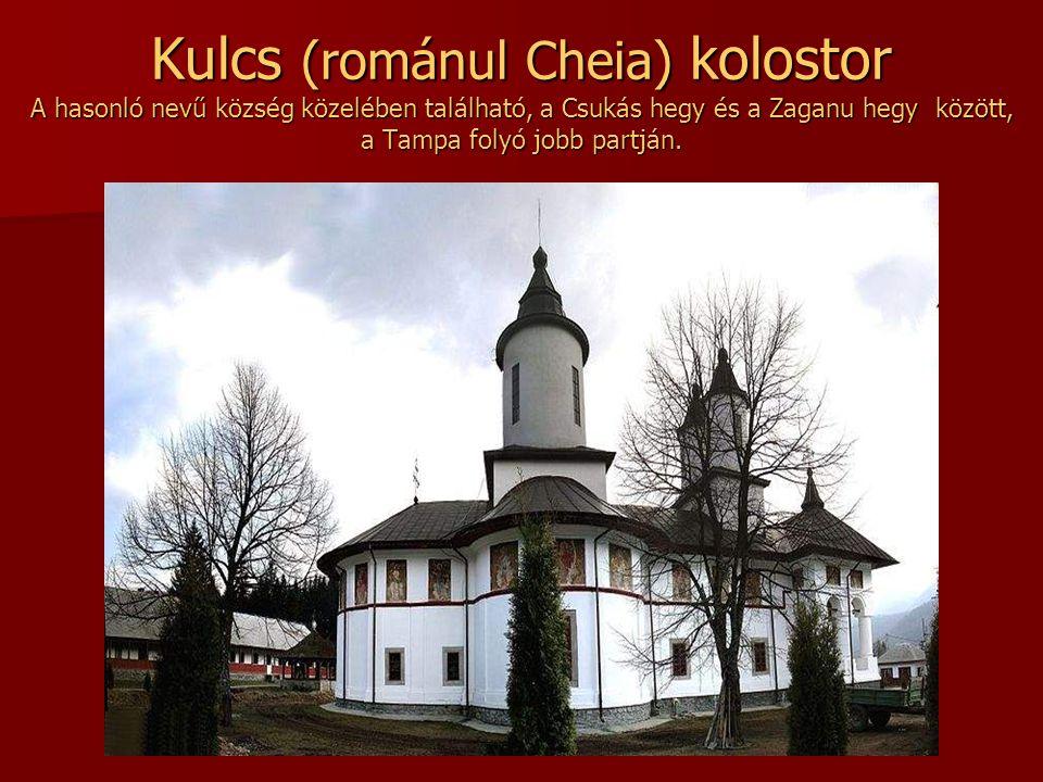 Kulcs (románul Cheia) kolostor A hasonló nevű község közelében található, a Csukás hegy és a Zaganu hegy között, a Tampa folyó jobb partján.