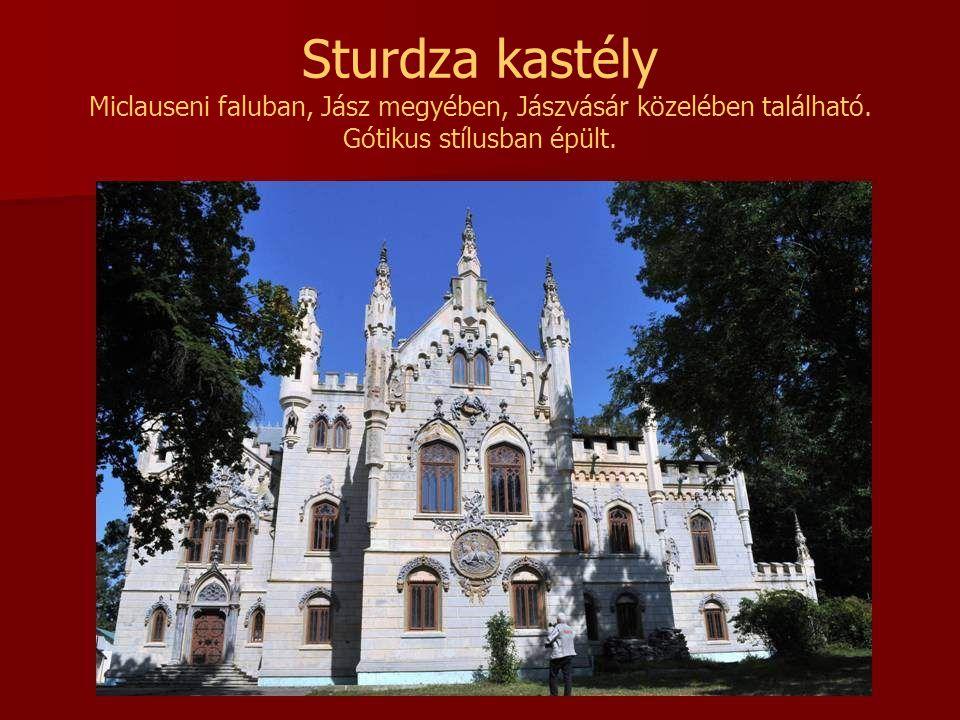 Sturdza kastély Miclauseni faluban, Jász megyében, Jászvásár közelében található.