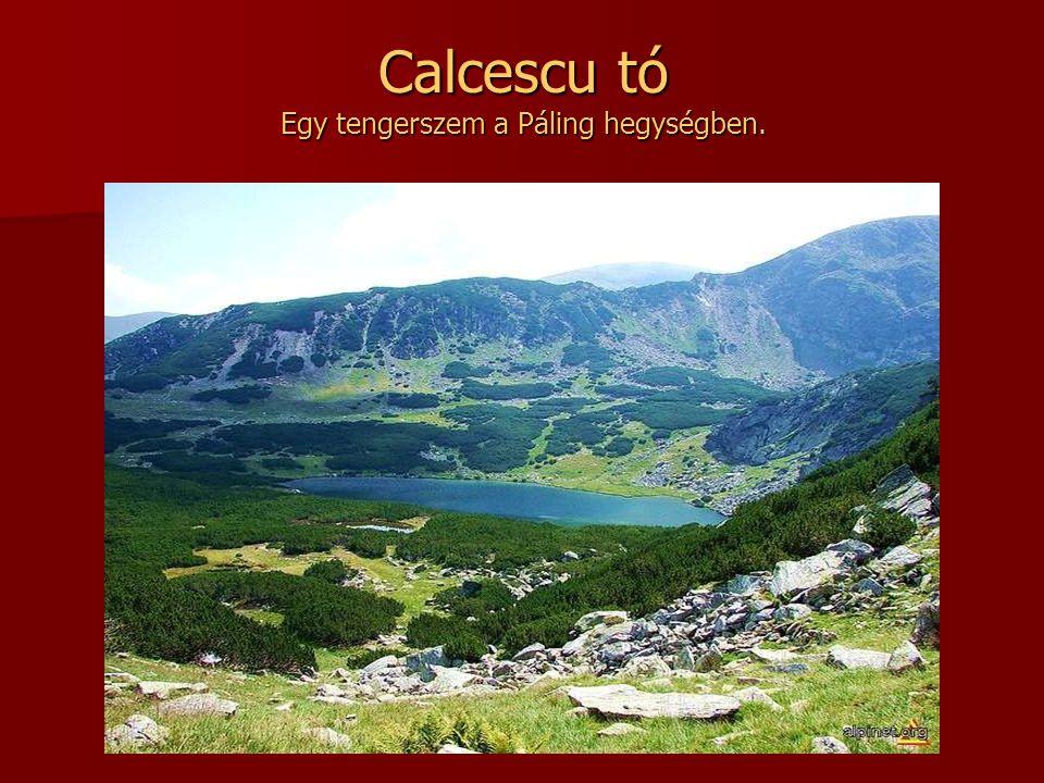 Calcescu tó Egy tengerszem a Páling hegységben.