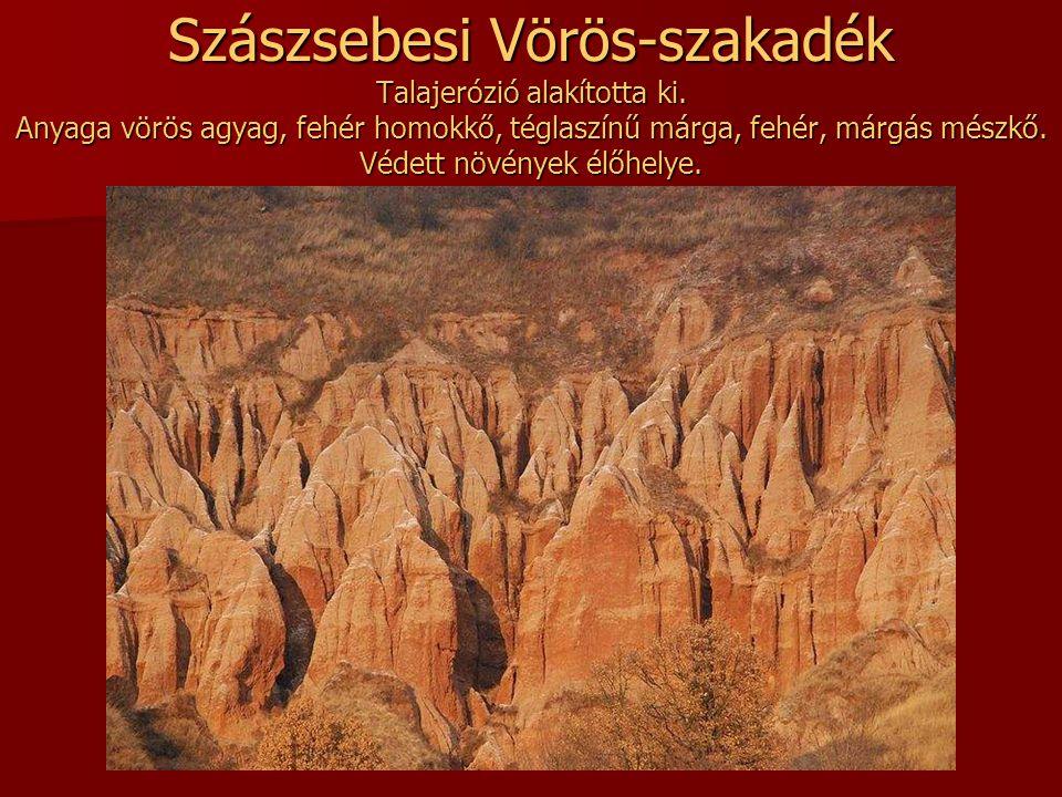 Szászsebesi Vörös-szakadék Talajerózió alakította ki