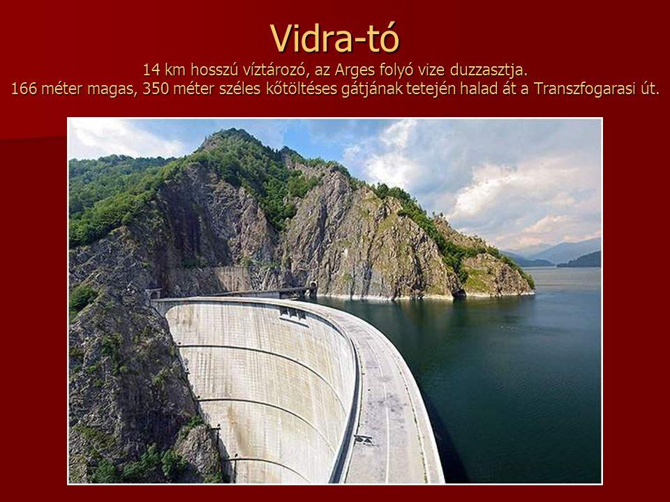 Vidra-tó 14 km hosszú víztározó, az Arges folyó vize duzzasztja