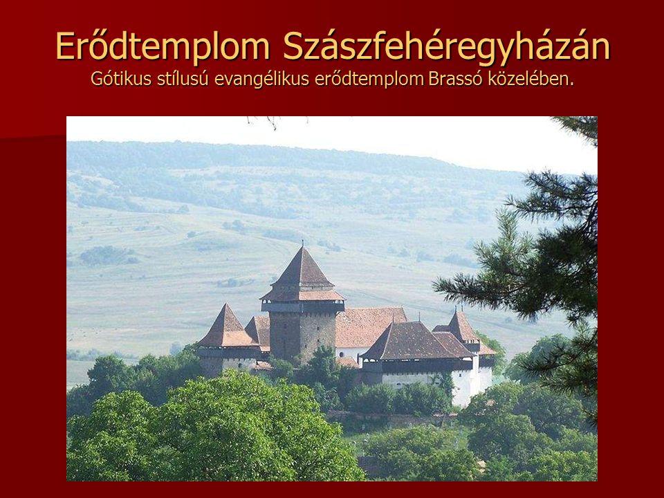 Erődtemplom Szászfehéregyházán Gótikus stílusú evangélikus erődtemplom Brassó közelében.