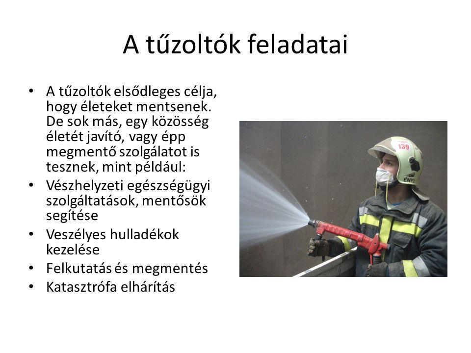 A tűzoltók feladatai
