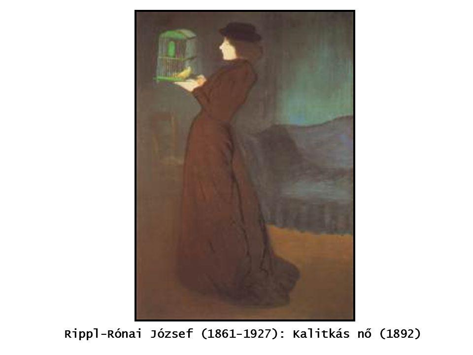 kép Rippl-Rónai József (1861-1927): Kalitkás nő (1892)