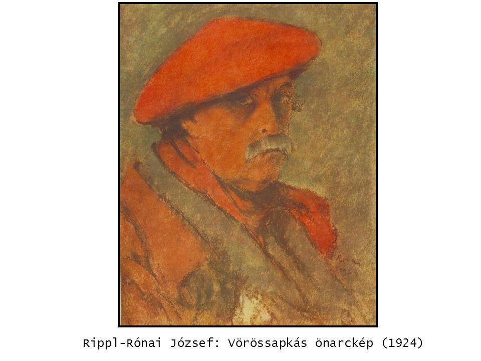 kép Rippl-Rónai József: Vörössapkás önarckép (1924)