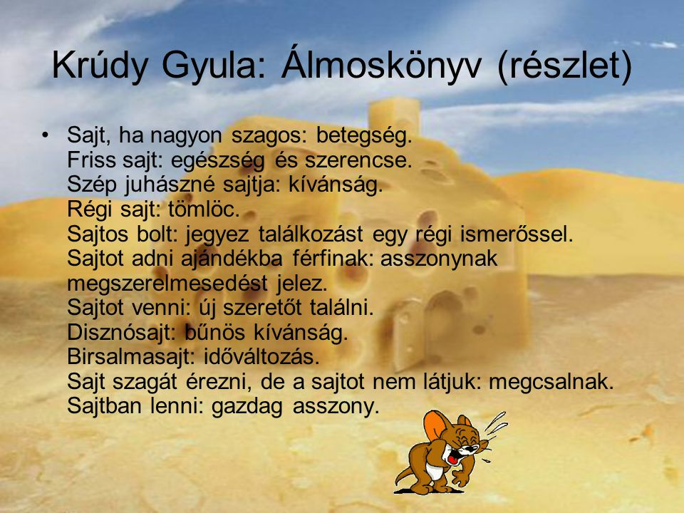 Krúdy Gyula: Álmoskönyv (részlet)
