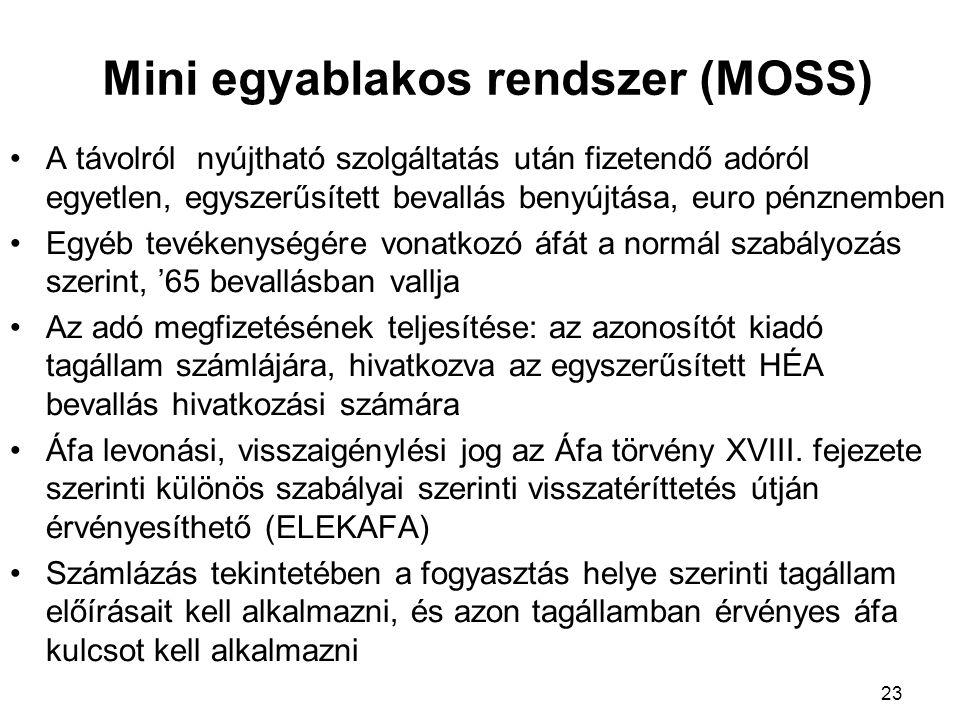 Mini egyablakos rendszer (MOSS)