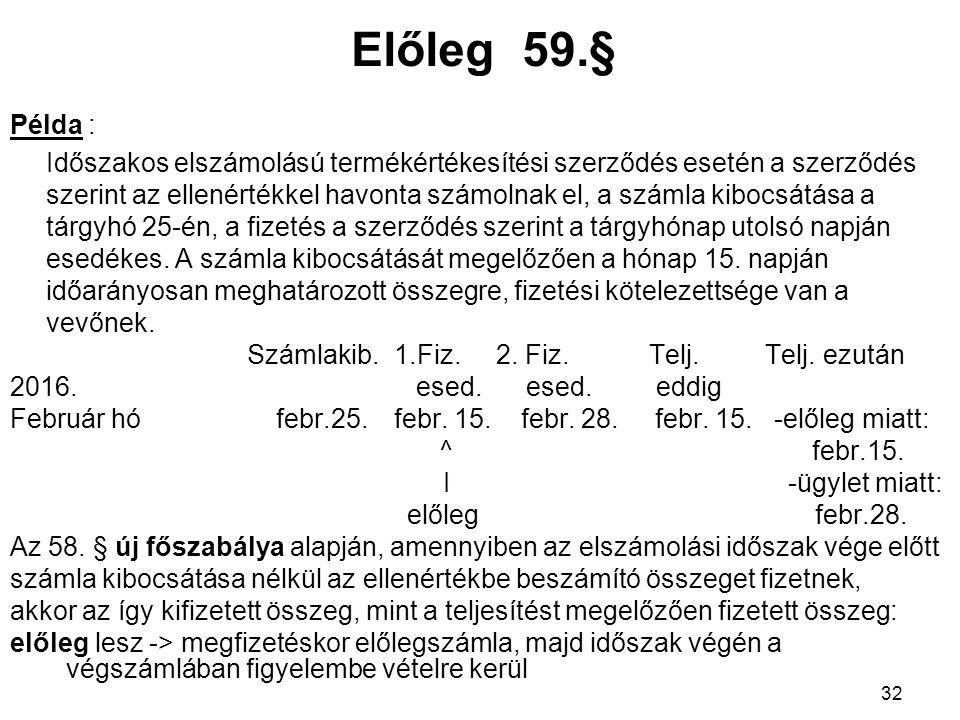 Előleg 59.§