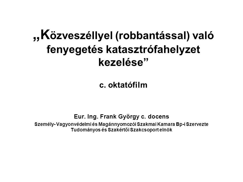 Eur. Ing. Frank György c. docens