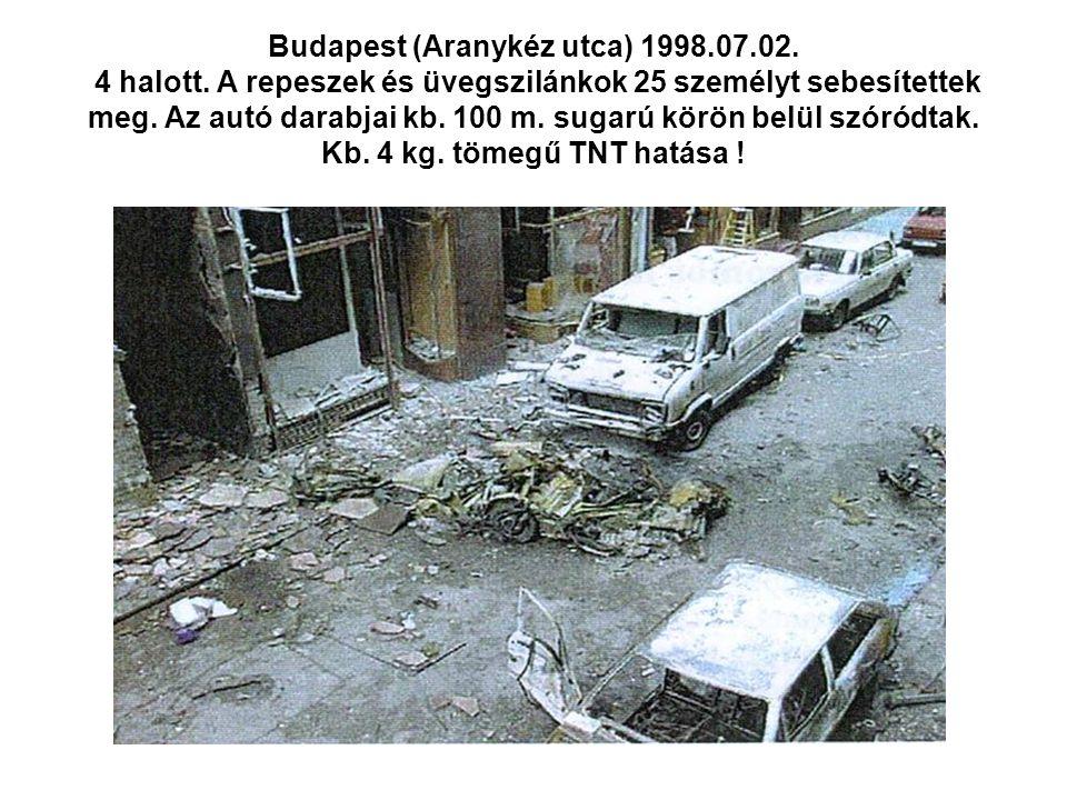 Budapest (Aranykéz utca) 1998. 07. 02. 4 halott
