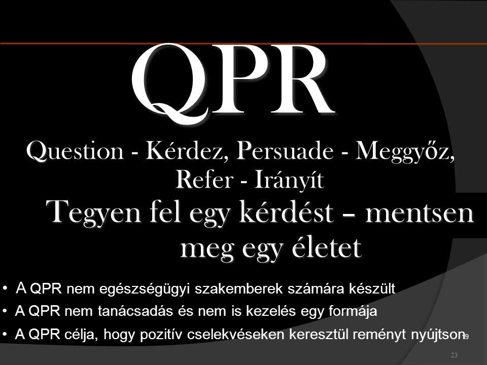 QPR Tegyen fel egy kérdést – mentsen meg egy életet