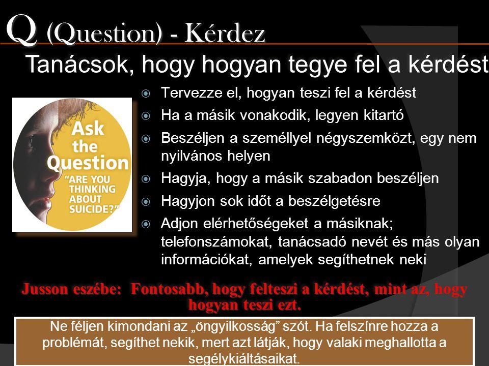 Q (Question) - Kérdez Tanácsok, hogy hogyan tegye fel a kérdést
