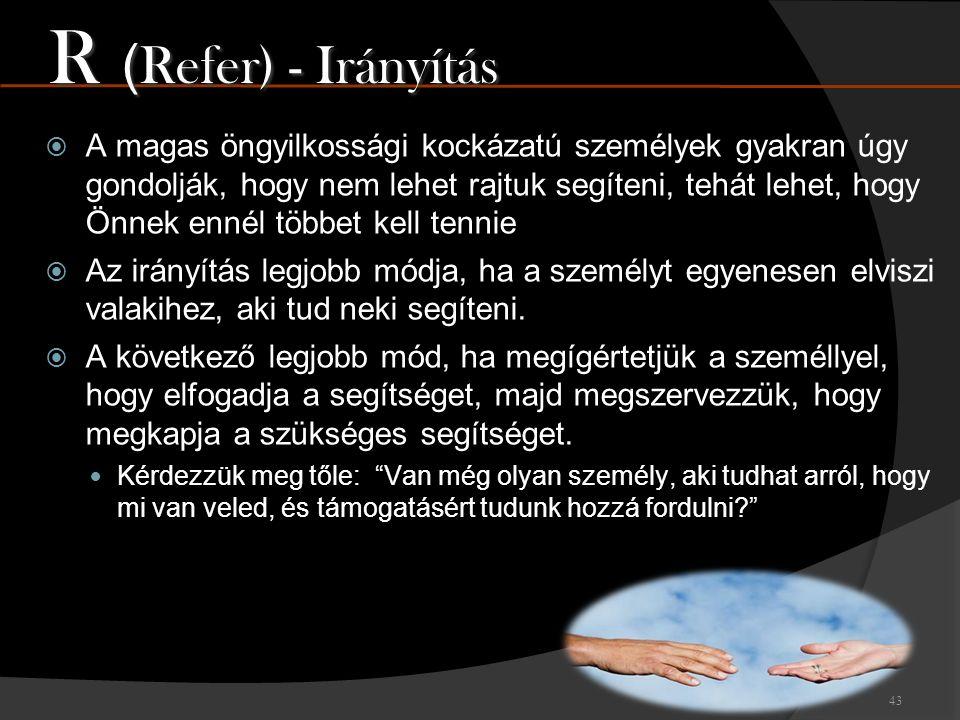 R (Refer) - Irányítás