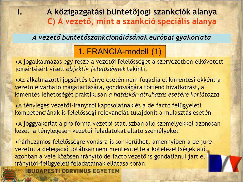 A vezető büntetőszankcionálásának európai gyakorlata