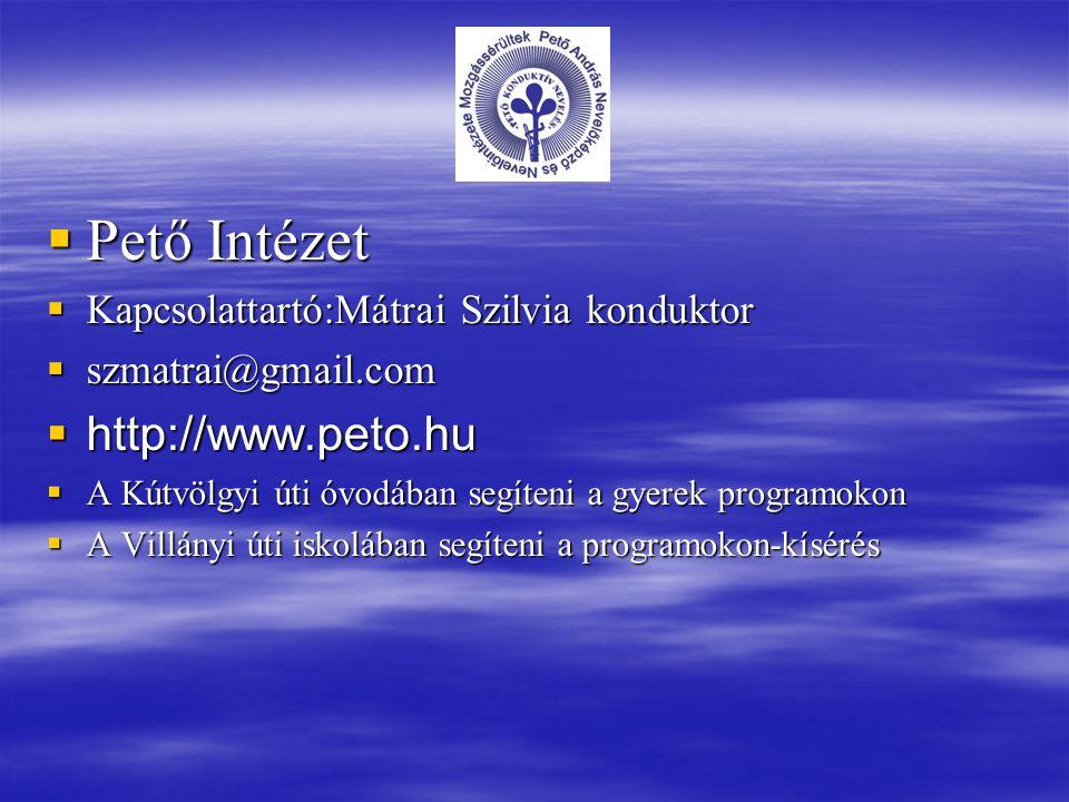 Pető Intézet http://www.peto.hu