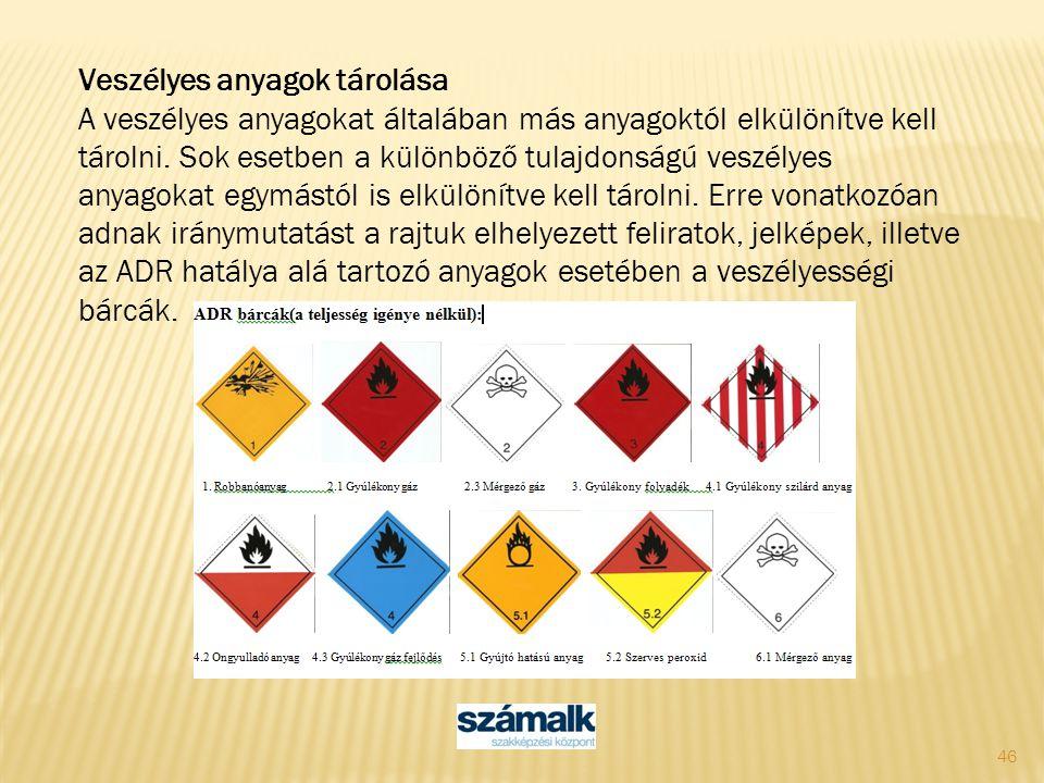 Veszélyes anyagok tárolása