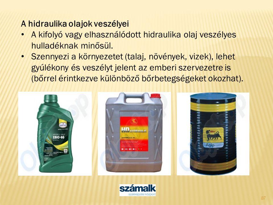 A hidraulika olajok veszélyei