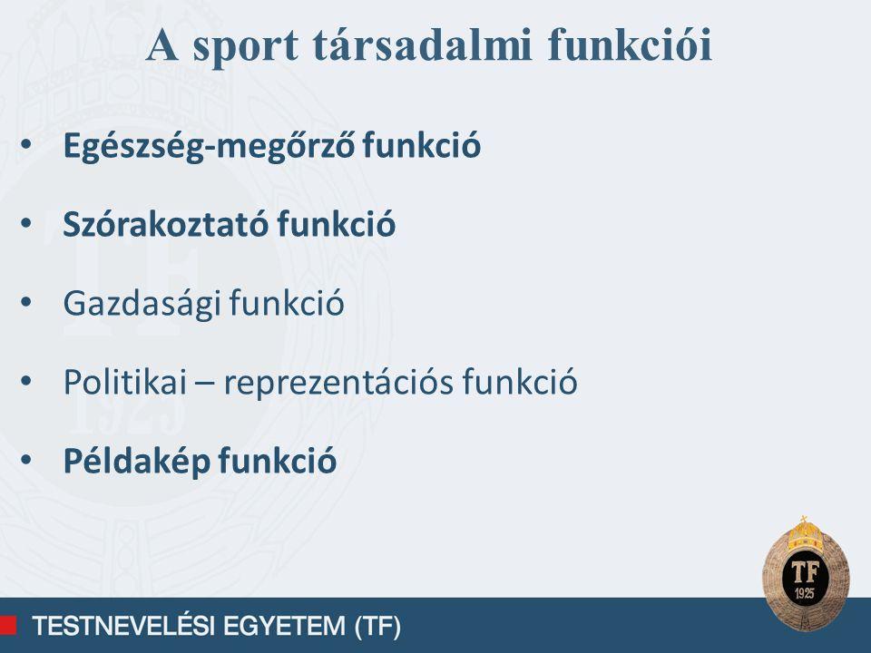 A sport társadalmi funkciói