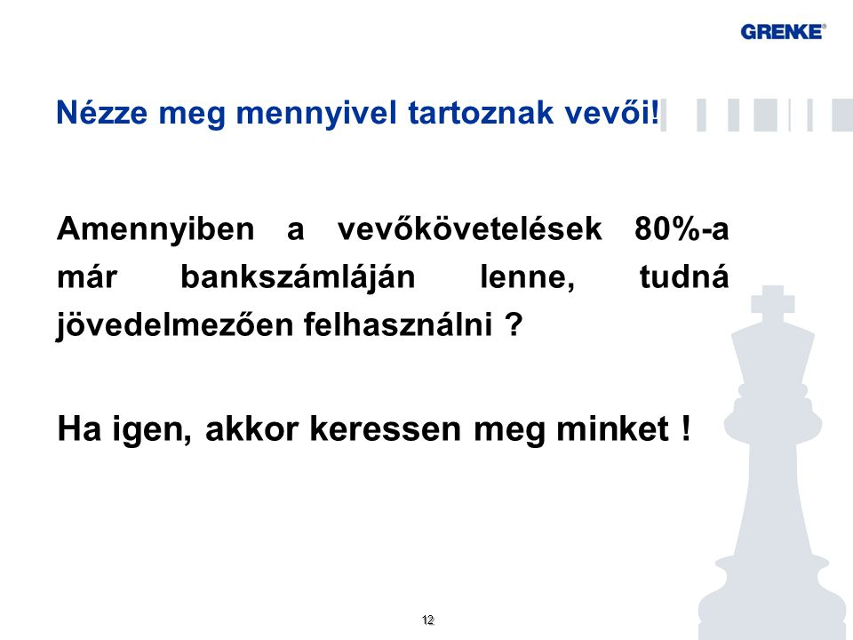 GF FAKTOR ZRT – GRENKE CSOPORT